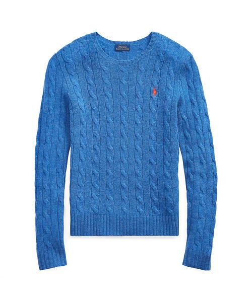 POLO RALPH LAUREN(ポロラルフローレン)の「ケーブルニット クルーネック セーター(ニット/セーター)」|ブルー系9