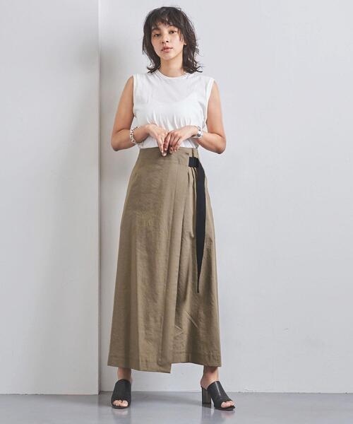 <SACRA(サクラ)>ベルテッド ラップスカート