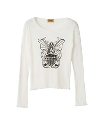 BUTTERFLY Tシャツホワイト