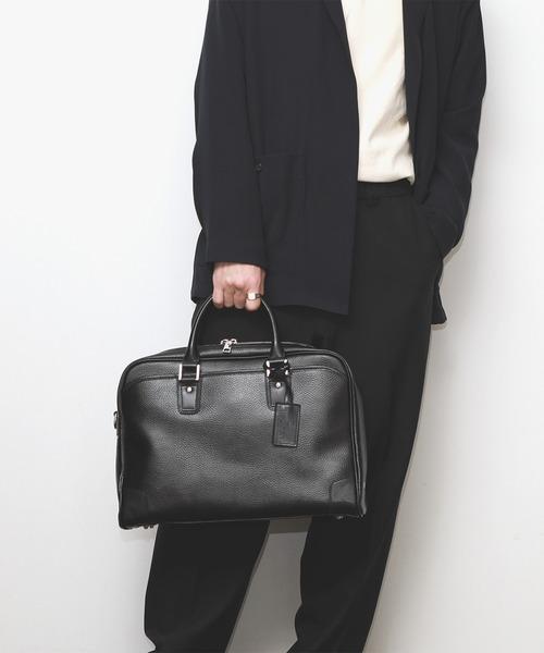 美しい GUIONNET ギオネ A4 書類収納可能 表面撥水加工 ビジネスバッグ 2way Briefcase 手提げバッグ ショルダーバッグ ブリーフケース OEM-PG002 メンズ, TWO CREW f0b0a397