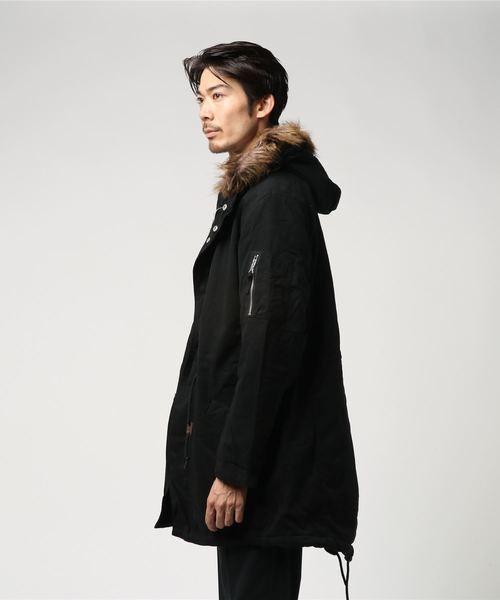 【BURNER SELECT】コットンツイル裏ボアモッズコート