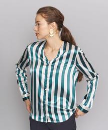 <WON HUNDRED>ストライプVネックシャツ ◆