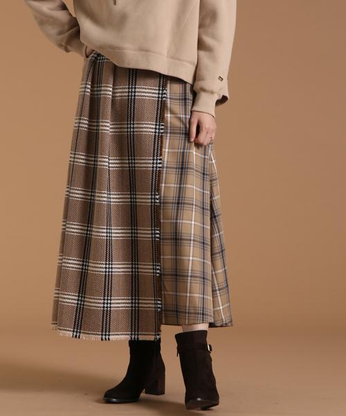 【最新入荷】 Soffitto/ツイード切替チェックスカート(スカート)|soffitto(ソフィット)のファッション通販, フロアマット通販店ワールドマット:bbc9b0d0 --- pan.profil41.de