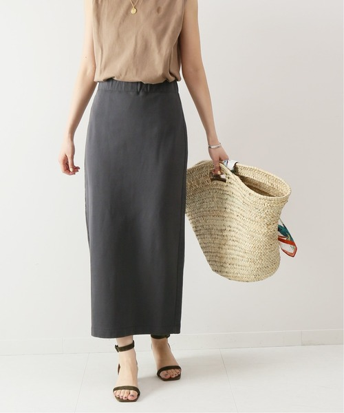 Spick & Span(スピックアンドスパン)の「ミニ裏毛タイトスカート2◆(スカート)」|チャコールグレー