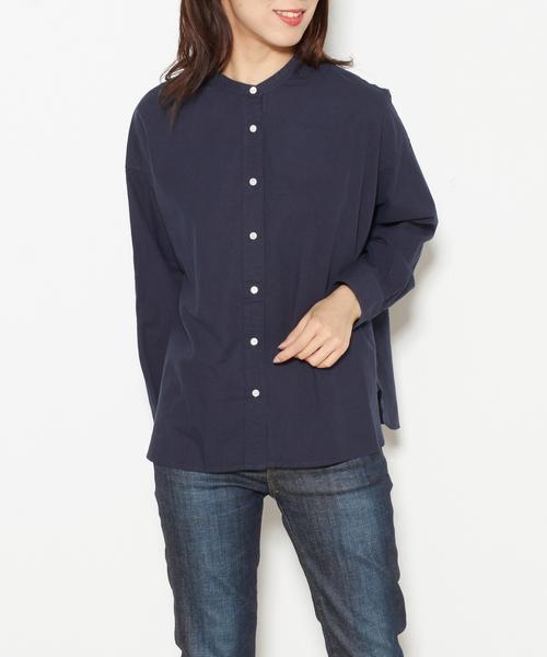 バンドカラーワイドシャツ