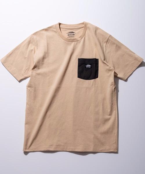 防蚊加工 ポケットTシャツ ワンポイントブランドロゴ