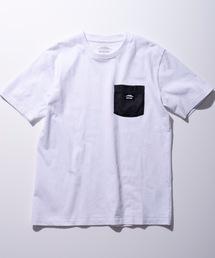 防蚊加工 ポケットTシャツ ワンポイントブランドロゴホワイト