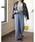 Re:EDIT(リエディ)の「フラワーレースセミワイドパンツ(パンツ)」|詳細画像