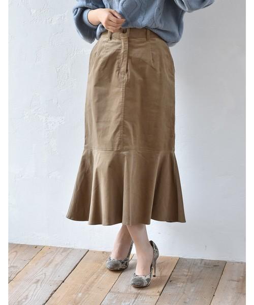 コーデュロィマーメイドデザインスカート
