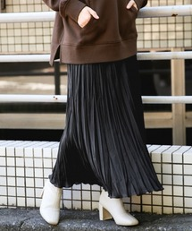LOWRYS FARM(ローリーズファーム)のサテンワッシャープリーツスカート 855005(スカート)