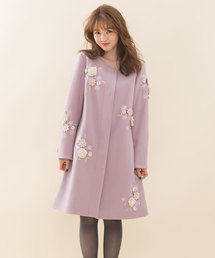 WILLSELECTION(ウィルセレクション)のエアリークリーミー刺繍コート(テーラードジャケット)