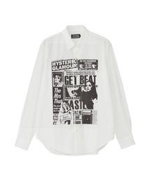 DAILY HYSTERIC レギュラーカラーシャツホワイト