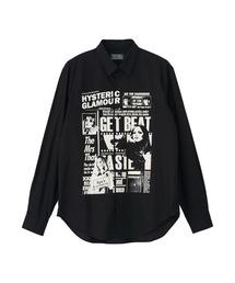 DAILY HYSTERIC レギュラーカラーシャツブラック