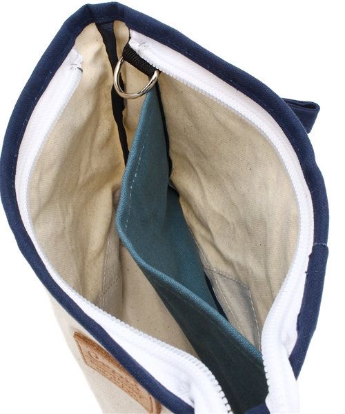COSSHI  PARAFFIN CANVAS CLUCH BAG