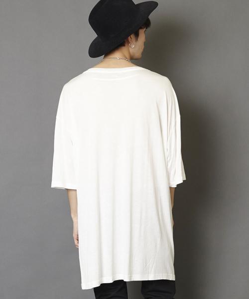 スーパーオーバーサイズビッグTシャツ ビッグシルエットドロップショルダーTシャツ
