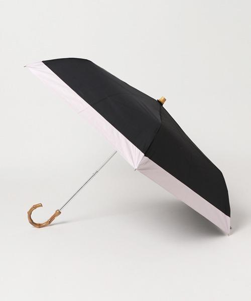 晴雨兼用傘 / 竹手ムジ折りたたみ傘 27570