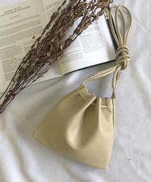 select MOCA(セレクトモカ)のフェイクレザー巾着バッグ/3wayソフトフェイクレザーミニマルバッグ(ショルダーバッグ)
