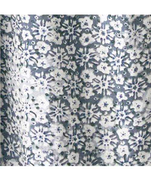 サニークラウズ 和花プリントワンピース<レディース>白い花