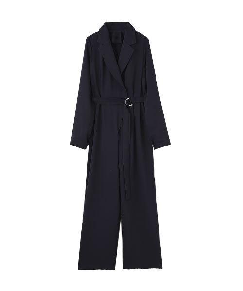 marjour(マージュール)の「OPENCOLLAR DRESS(ドレス)」|ネイビー