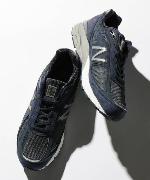 <New Balance(ニューバランス)> M990 v4 NAVY/スニーカー ◆