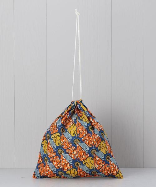 <Fatima Morocco>AFRICAN PRINT DRAWSTRING BAG/バッグ