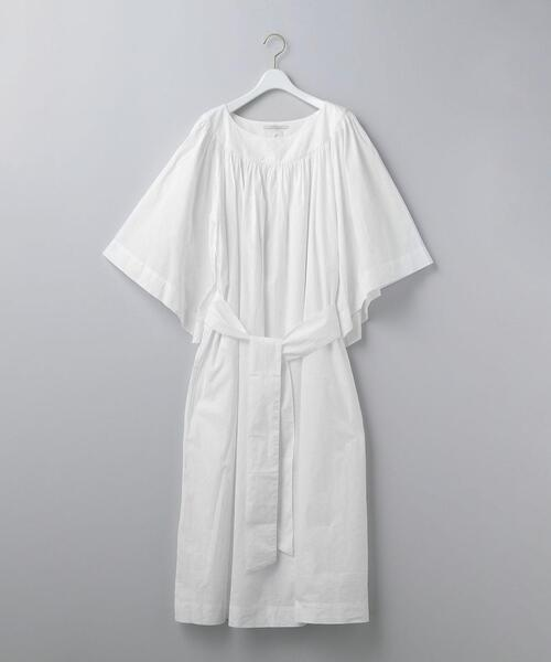 <ne Quittez pas × 6(ROKU)>COTTON POPLIN DRESS/ワンピース Ψ
