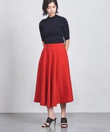 ○UWSC 麻フレアスカート ◆