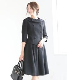 DRESS LAB(ドレスラボ)のタックフレアスカートフォーマルセットアップスーツ【2点セット】(セットアップ)