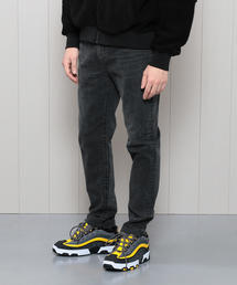 <H>BLACK DENIM 5POCKET SKINNY PANTS/パンツ