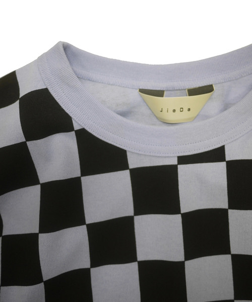 Jieda(ジエダ)の「CHECKERED OVER T-SHIRT(Tシャツ/カットソー)」|詳細画像