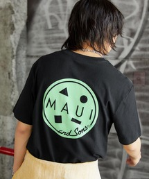 MAUI and Sons/マウイアンドサンズ S/S T-SHIRT COOKEI LOGO PRINT バッククッキーロゴプリント半袖Tシャツブラック系その他
