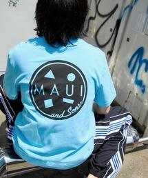 MAUI and Sons/マウイアンドサンズ S/S T-SHIRT COOKEI LOGO PRINT バッククッキーロゴプリント半袖Tシャツブルー系その他