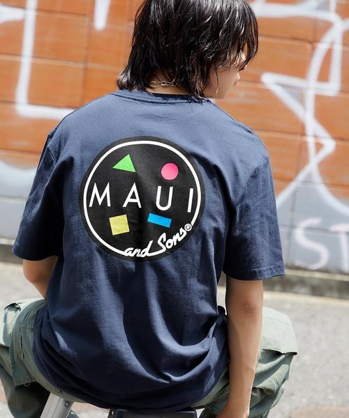 MAUI and Sons/マウイアンドサンズ  COOKEI LOGO PRINT バッククッキーロゴプリント半袖Tシャツ