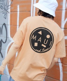 MAUI and Sons/マウイアンドサンズ S/S T-SHIRT COOKEI LOGO PRINT バッククッキーロゴプリント半袖Tシャツオレンジ系その他