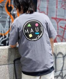 MAUI and Sons/マウイアンドサンズ S/S T-SHIRT COOKEI LOGO PRINT バッククッキーロゴプリント半袖Tシャツグレー