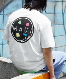 MAUI and Sons/マウイアンドサンズ S/S T-SHIRT COOKEI LOGO PRINT バッククッキーロゴプリント半袖Tシャツホワイト