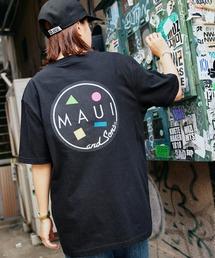 MAUI and Sons/マウイアンドサンズ S/S T-SHIRT COOKEI LOGO PRINT バッククッキーロゴプリント半袖Tシャツブラック