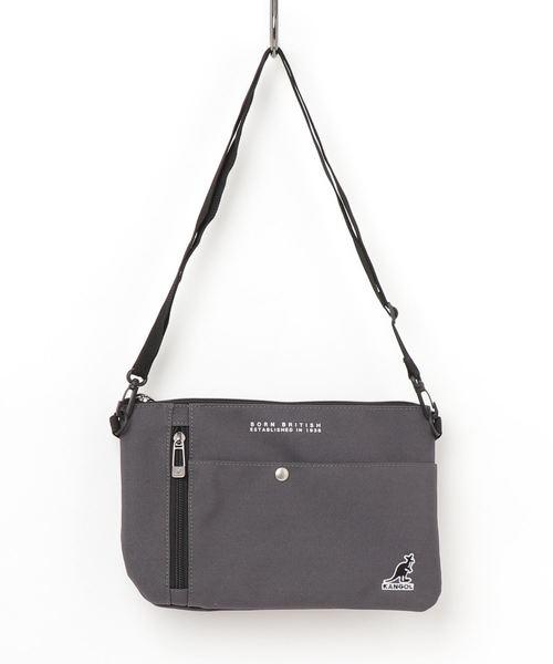 【KANGOL /カンゴール 】 ショルダーバッグ サコッシュ カバン 刺繍ロゴ (KGSA-BG00025)