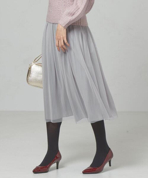 <yangany> サテン×チュール リバーシブルスカート