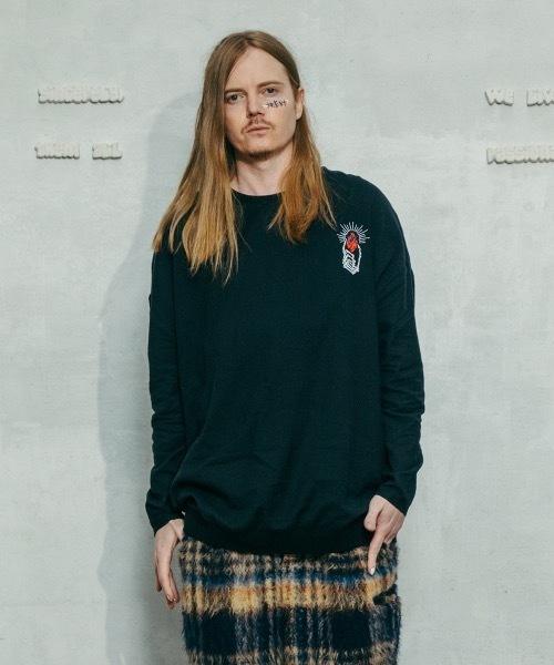 STOF(ストフ)の「2020秋冬 ルーツ刺繍プルオーバー(ニット/セーター)」|B