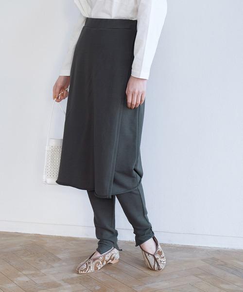 【マシュマロタッチ】裏毛レギンス付きスカート