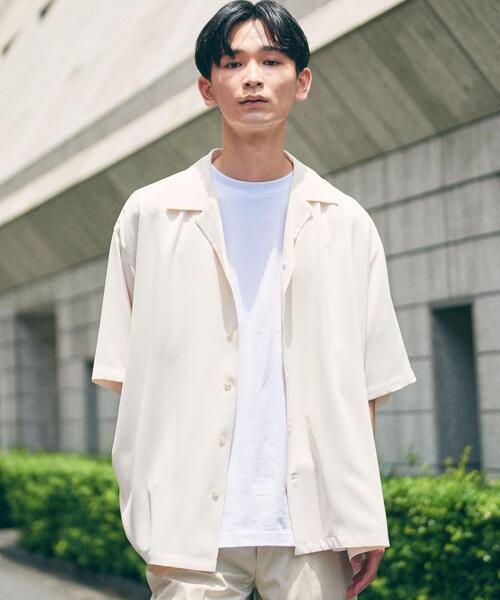 【WEB限定】 <info. BEAUTY&YOUTH> ユルテロ オープンカラー シャツ