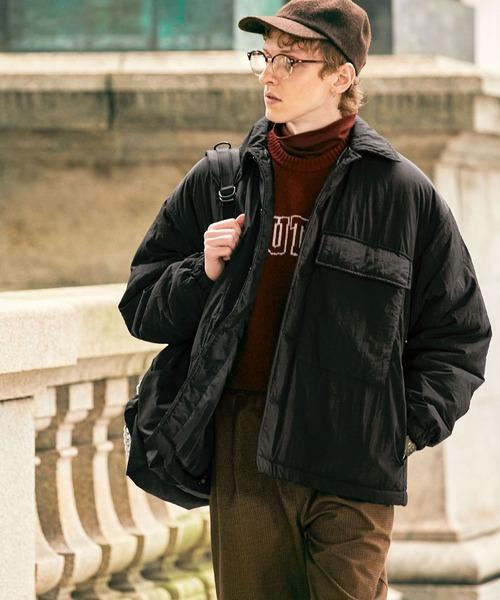 オーバーサイズ ナイロン Wポケット エコダウン 袖ボリューム ダウンジャケット EMMA CLOTHES 2021 WINTER