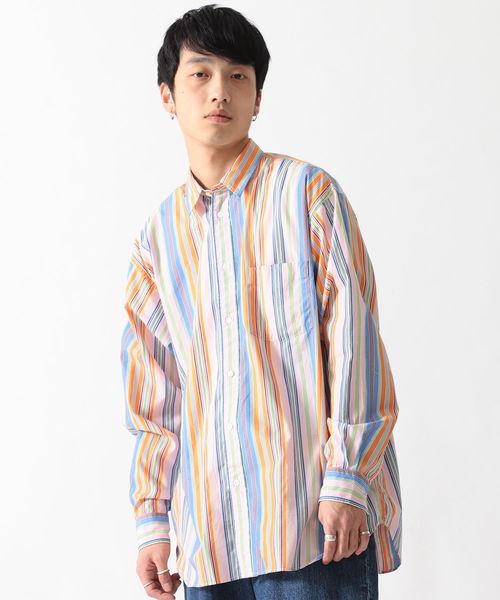 BEAMS / ルーズフィット ブロード ストライプシャツ