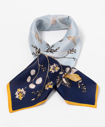 KATHARINE ROSS(キャサリンロス)の【KATHARINE ROSS】 WEB限定 花柄シルクミニスカーフ(バンダナ/スカーフ)