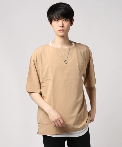 【セットアイテム】ネックレス付きアンサンブルプルオーバーシャツ