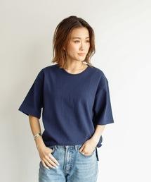 Auntie Rosa Holiday(アンティローザホリデー)の【Holiday】ヘビーウェイトスリットTシャツ(Tシャツ/カットソー)