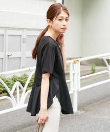 CIAOPANIC TYPY(チャオパニックティピー)のサイロコンパクト裾フレアTee(Tシャツ/カットソー)