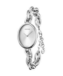 CALVIN KLEIN WATCHES+JEWELRY(カルバン・クライン ウォッチ&ジュエリー)の【AUTUMN FAIR ノベルティ対象商品】[カルバンクライン] CALVIN KLEIN 腕時計 Statement(ステイトメント) 2針 シルバー×シルバー(腕時計)