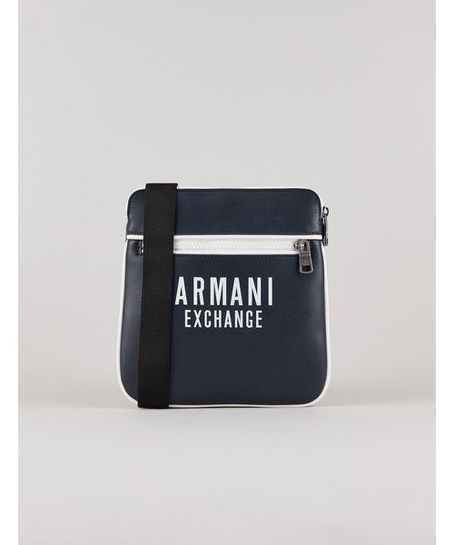 【A Xアルマーニ エクスチェンジ】ロゴ ミニショルダーバッグ